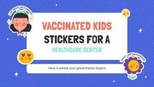 Autocollants d'enfants vaccinés : Modèles de présentation