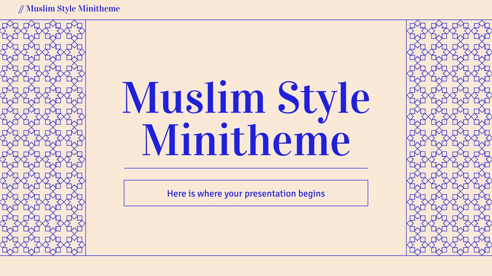 Muslim Style Minitheme presentation template