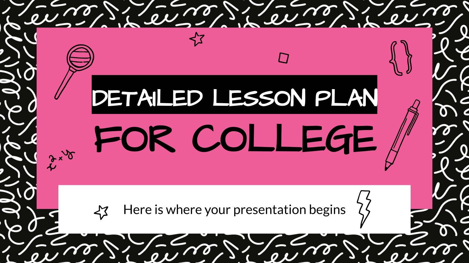 Plan de cours pour l'université : Modèles de présentation