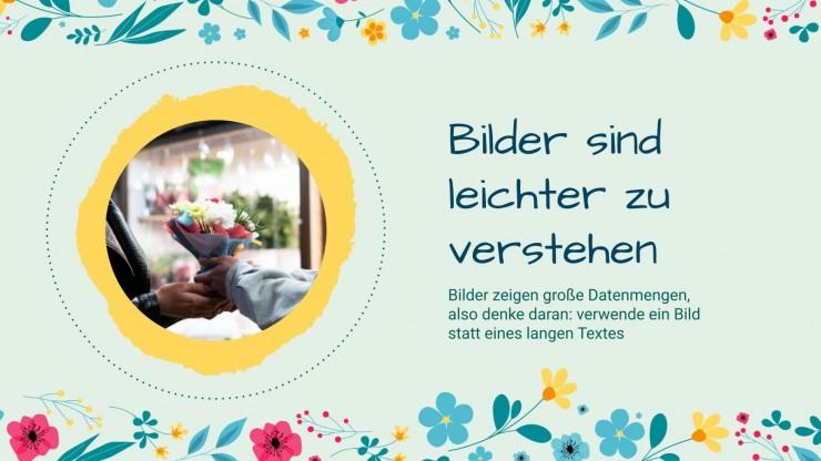 Flower Pattern for Social Media presentation template