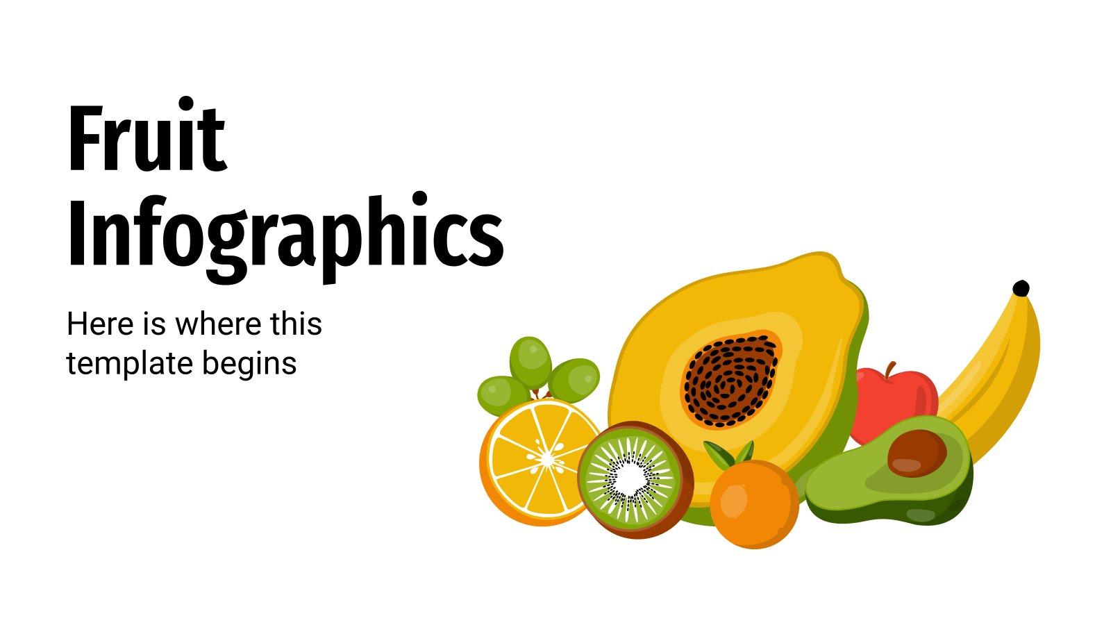 Infografiken über Obst Präsentationsvorlage