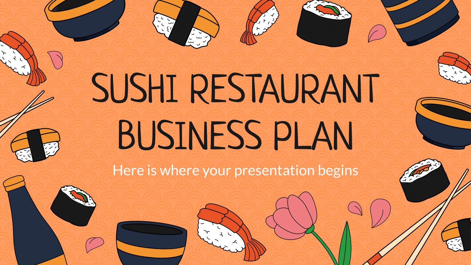 Businessplan für ein Sushi-Restaurant Präsentationsvorlage