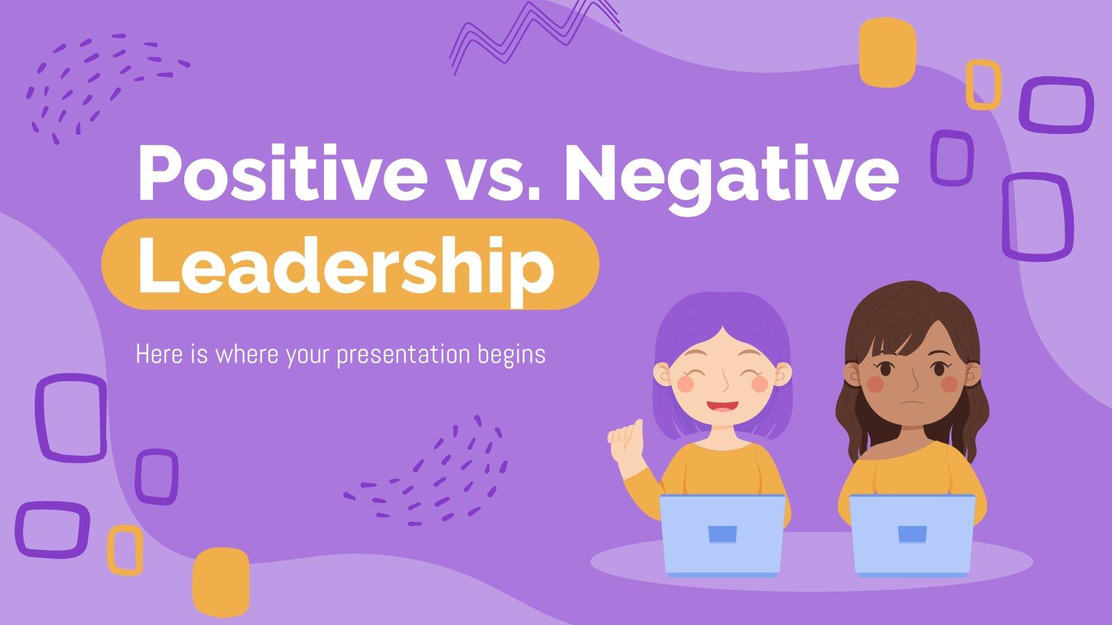 Plantilla de presentación Liderazgo positivo vs. negativo