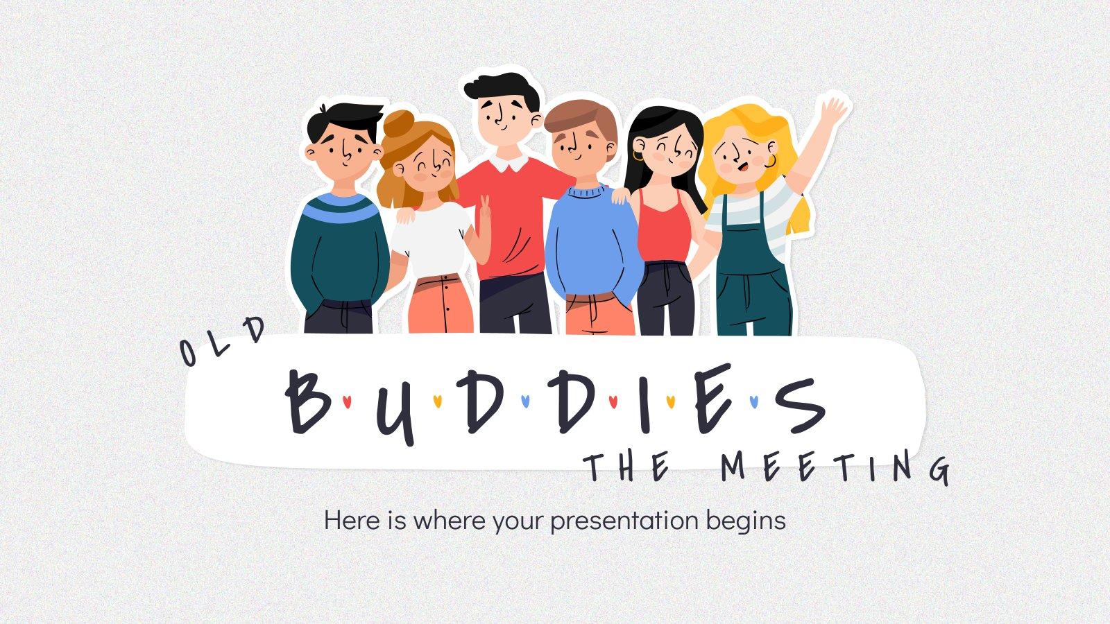 Plantilla de presentación Old Buddies: La reunión