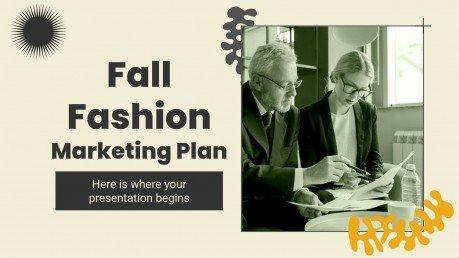 Marketingplan für Herbstmode Präsentationsvorlage