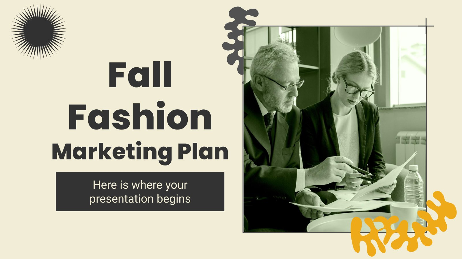 Plantilla de presentación Plan de marketing para moda de otoño