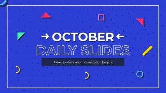 Oktober tägliche Folien Präsentationsvorlage