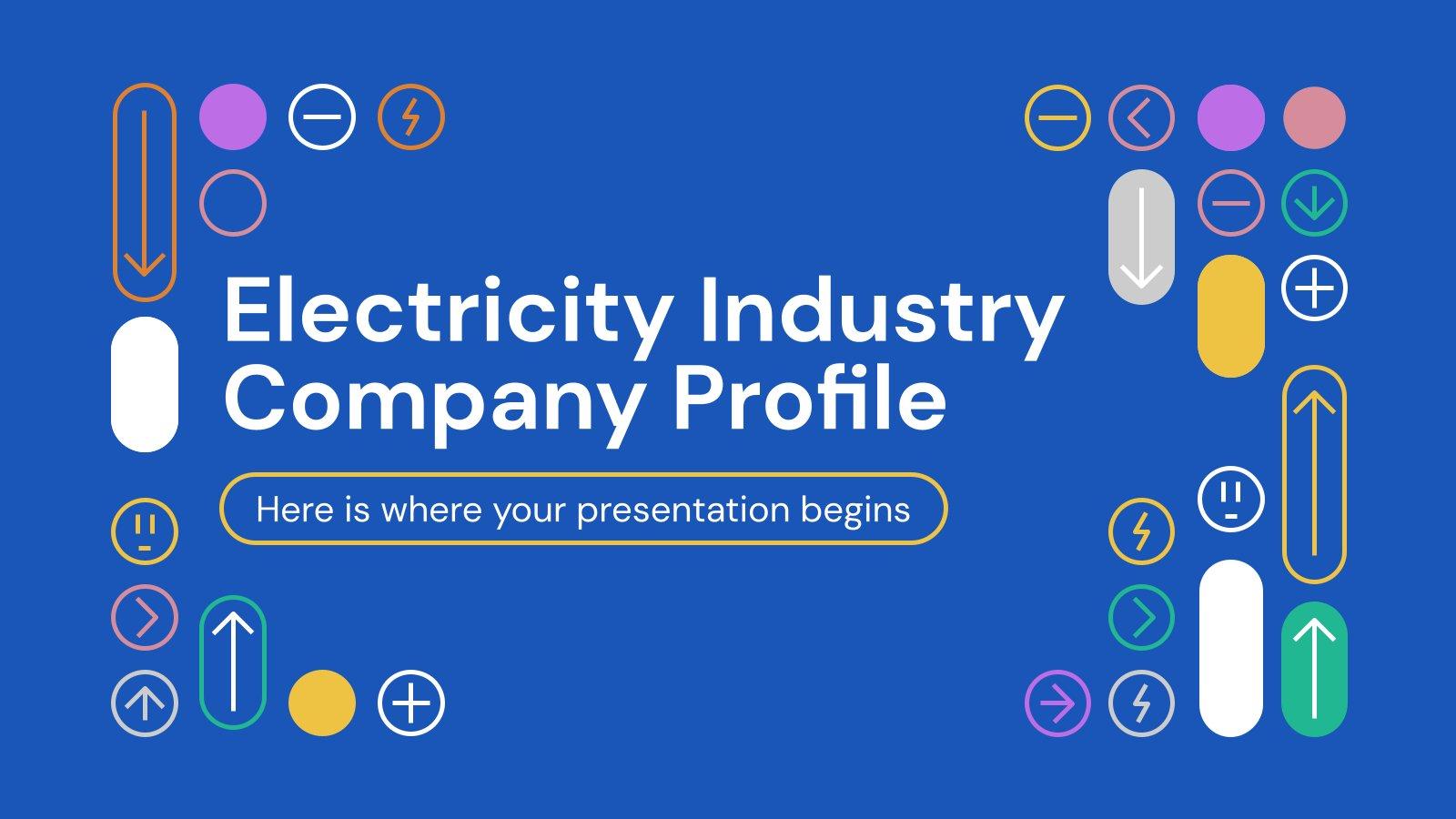 Plantilla de presentación Perfil de empresa de la industria de la energía eléctrica