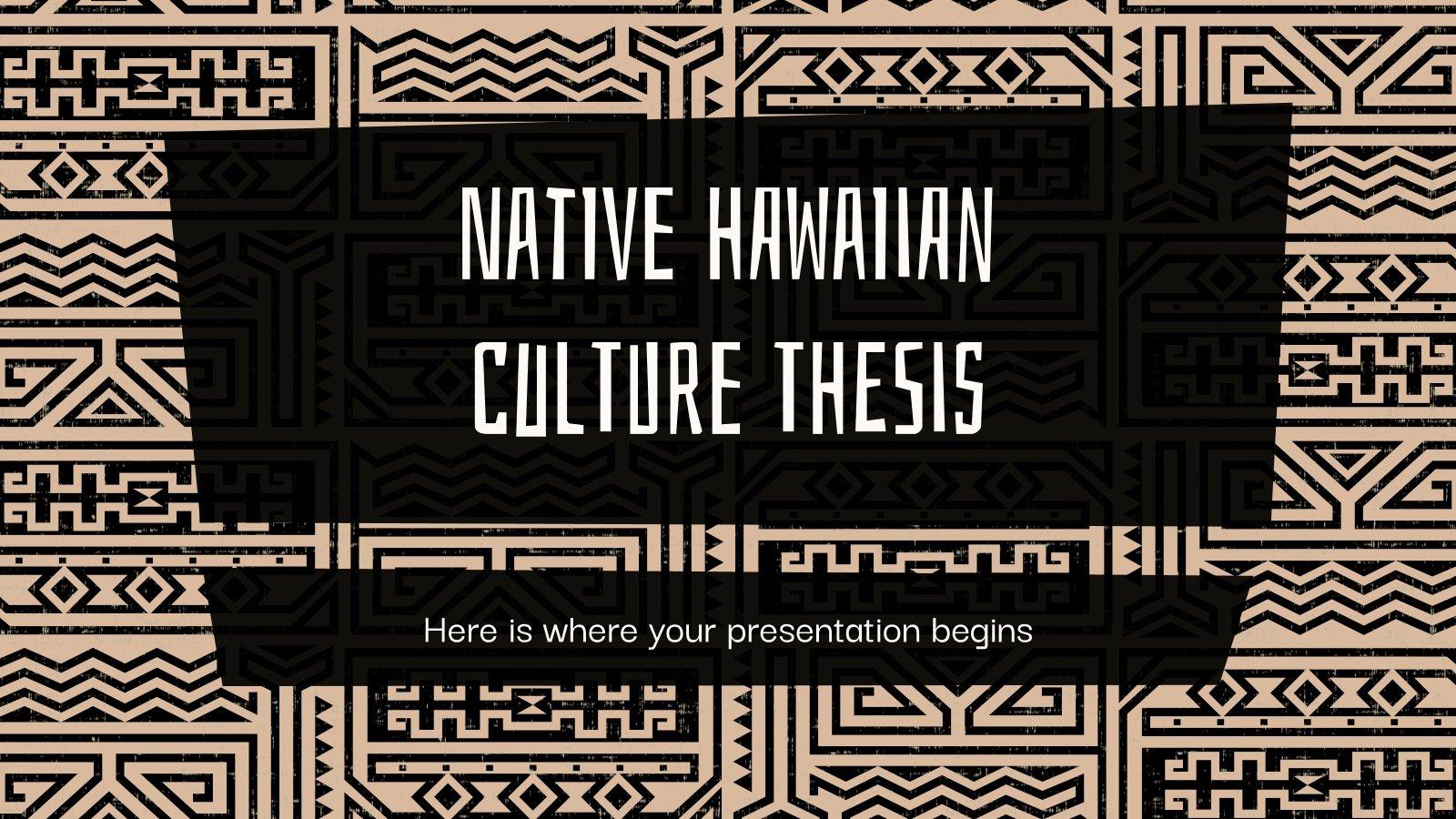 Modelo de apresentação Tese da cultura havaiana