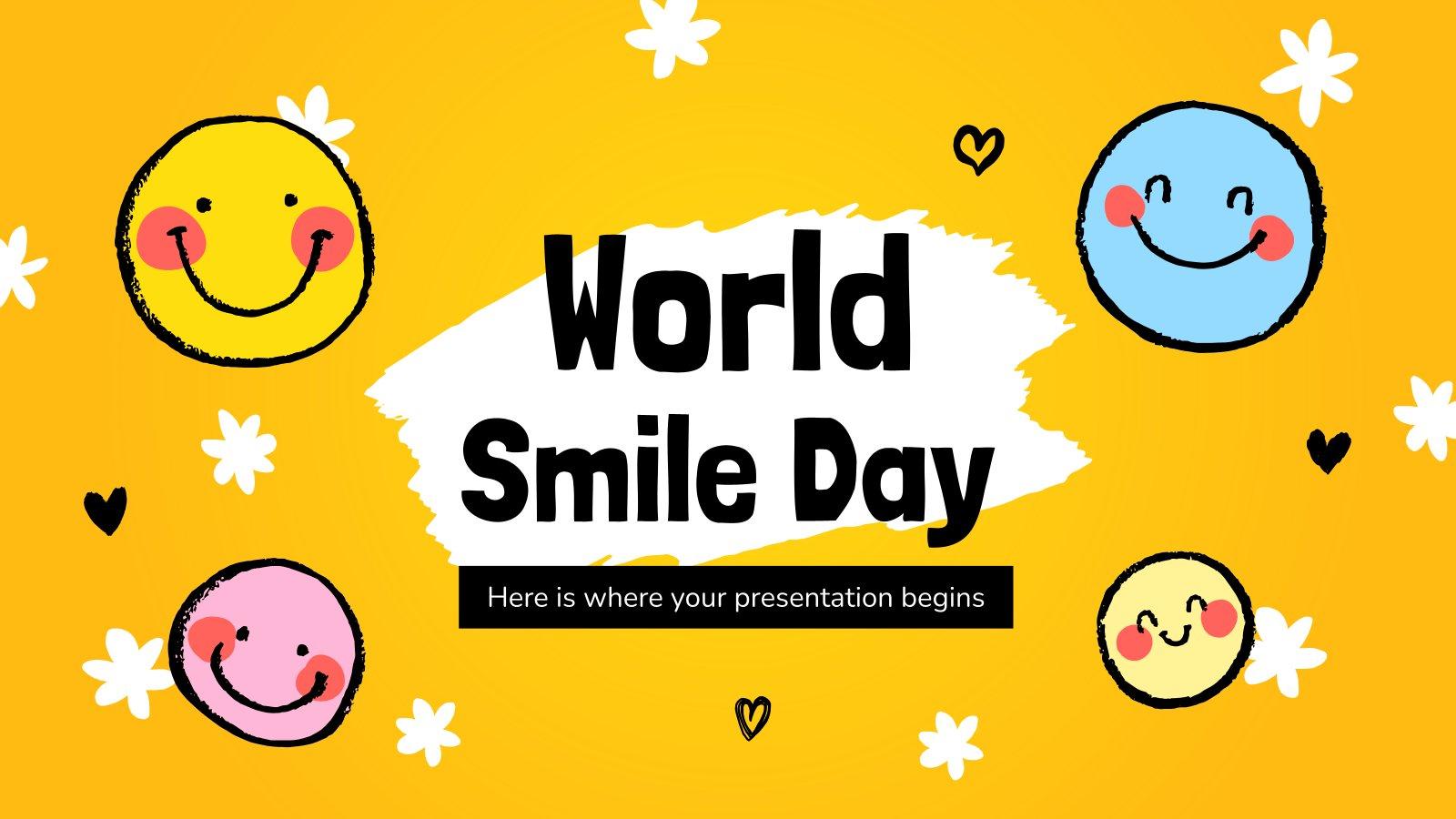 Modelo de apresentação Dia Mundial do Sorriso