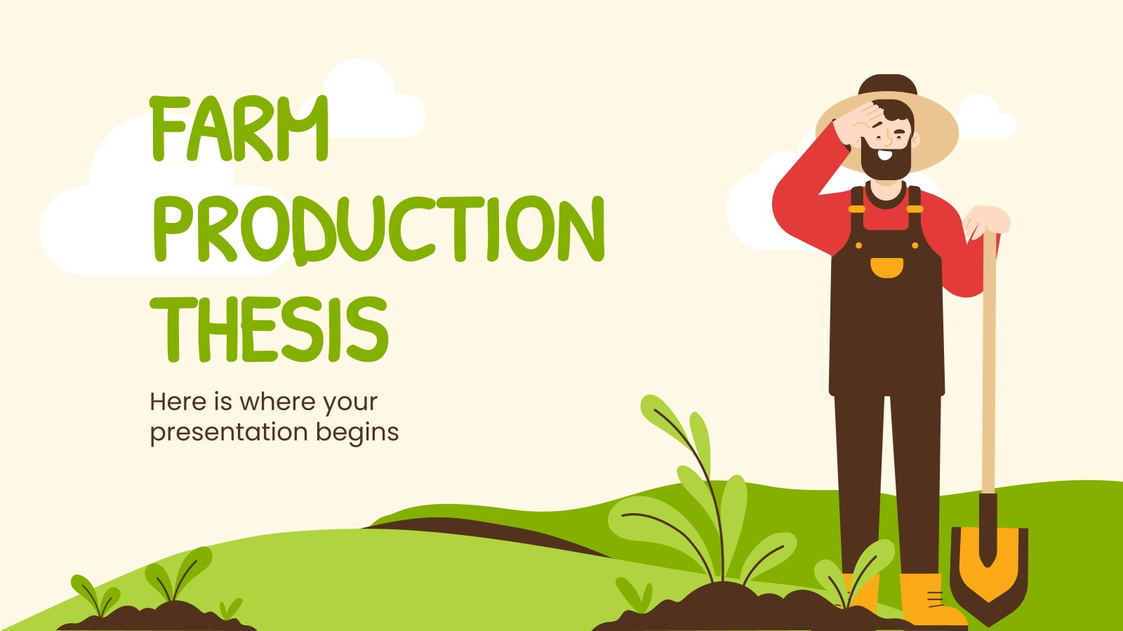 Abschlussarbeit landwirtschaftliche Produktion Präsentationsvorlage