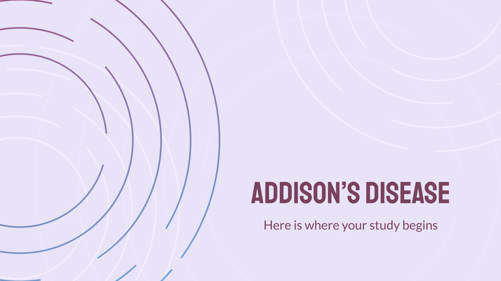 Addison's Disease presentation template