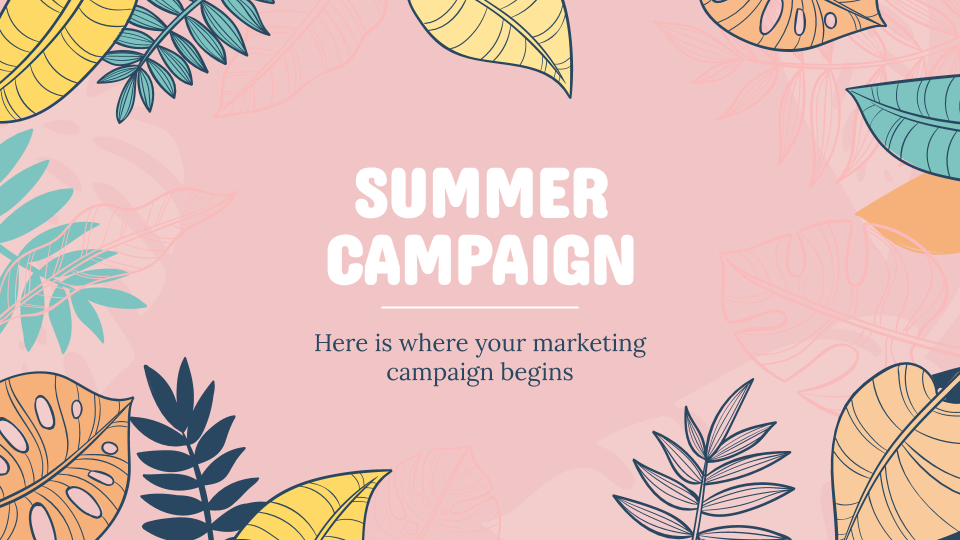 Summer Campaign presentation template