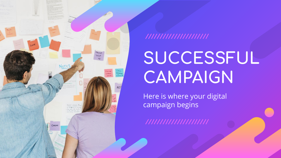 Successful Marketing Campaign presentation template